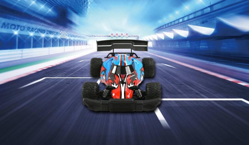 Bestuurbare raceauto