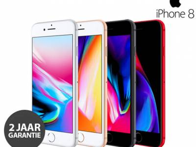 Refurbished Apple iPhone 8 64GB met GRATIS Hoesje + Tempered Glass