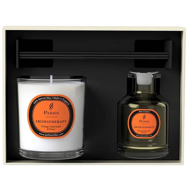 Parks London - Vintage Aromatherapy - Diffuser en Geurkaars Rosemary & Bergamot