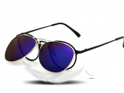 Hippe aviator clip-on zonnebril!