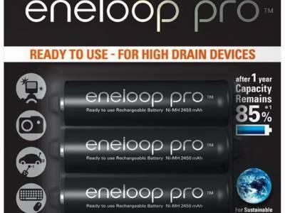 4AA Panasonic Eneloop Pro batterijen - 2500mAh