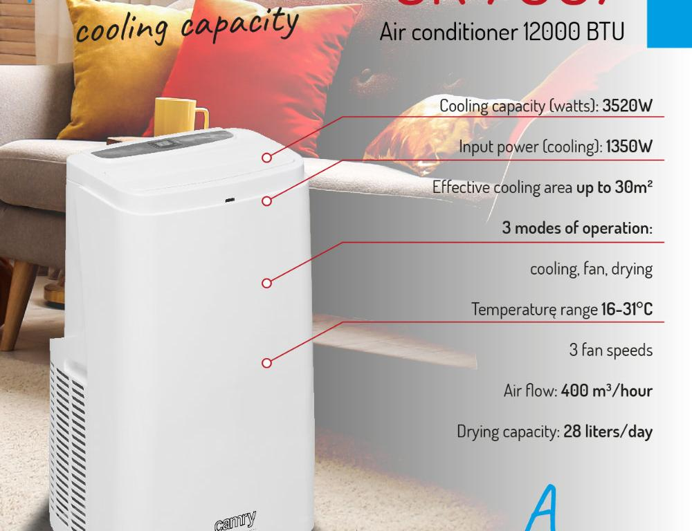 Camry Mobiele Airconditioner CR 7907 - 12000 BTU