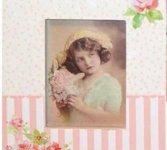 Fotolijst wit/rose/vierkant