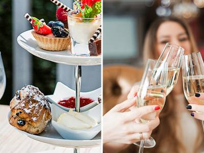Luxe high tea + glas bubbels bij Restaurant Moods
