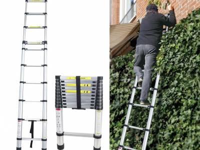 Aqua Laser Telescopische Ladder - Gemakkelijk Opbergen En Meenemen! ...