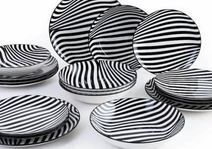 18-delige bordenset Zebra