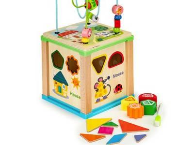 Speelgoed-kubus
