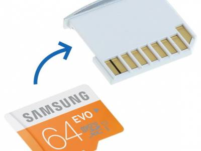 "MicroSD Adapter + 64GB Samsung geheugen voor MacBook Air 13"" Silver"