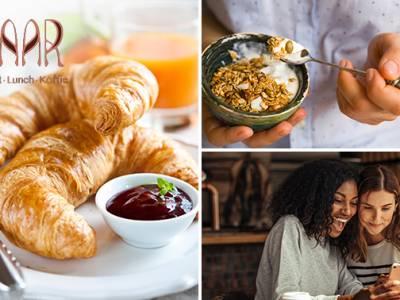 Ontbijt naar keuze + koffie/thee