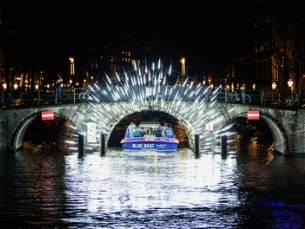 Amsterdam Light Festival cruise van 90 minuten met Blue Boat Company