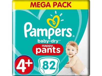 Pampers Baby Dry Pants -4+ - 9 tot 15 kg (82 stuks)