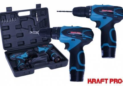 Kraft Pro+ dubbele accuboormachine set