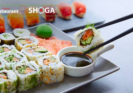 Afhalen bij Shoga: sushibox (24, 40 of 64 stuks)