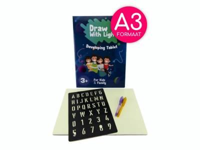 Tekenen op een magisch tekenbord A3 met toverpen!