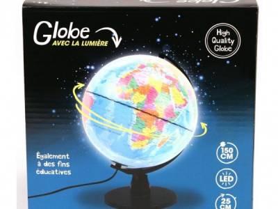 Globe Met Licht Nederlands 25 Cm