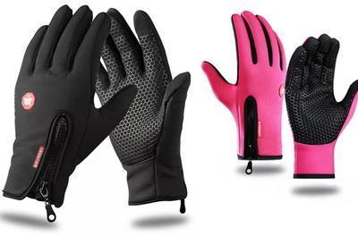 1 of 2 paar softshell handschoenen, te gebruiken met een touchscreen