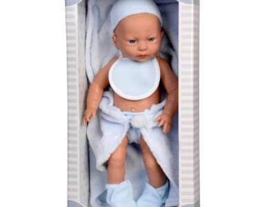 Pop Baby New Born Jongen met Dekje Blauw