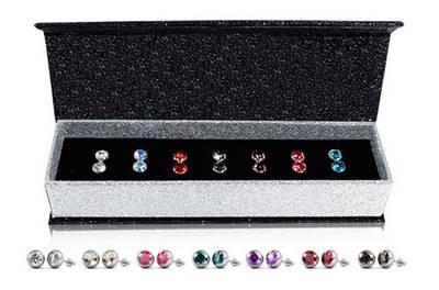 Set van 7 paar oorbellen gemaakt met Swarovski®-kristallen