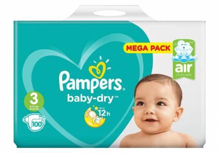 Pampers Baby Dry Luiers -3 - 6 tot 10kg