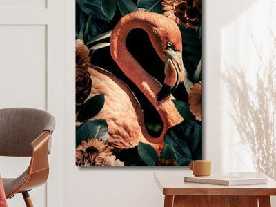 Flamingo's op canvas
