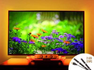 TV USB RGB LED 2x 15 - 5050 LED's met afstandsbediening