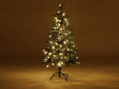 Kunst kerstboom met verlichting