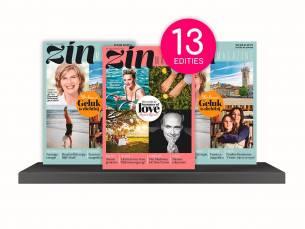 Een jaarabonnement 13 edities op het Zin Magazine!