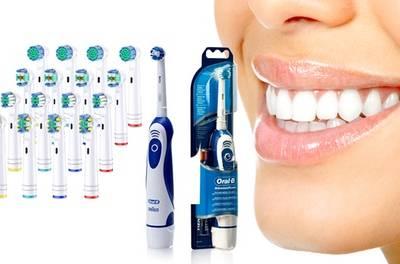 Oral B elektrische tandenborstel van het merk Braun, met of zonder 16 compatibele opzetborstels