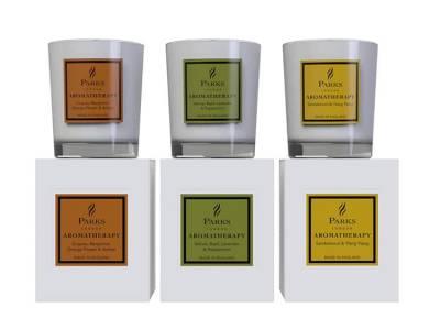 Parks London - Vintage Aromatherapy - Geschenkset - 3x 60gram Figuier, Lime, Basil & Manderin, Vanilla