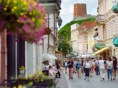 Modern 4*-hotel gelegen in het hart van Vilnius