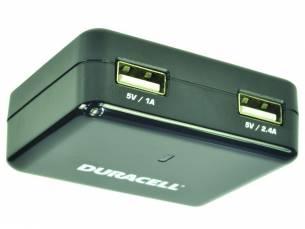 Duracell Dual USB reis oplader - voor tablet en smartphone