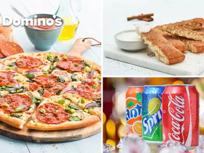Afhalen: Domino's pizza + evt. drankje + dessert