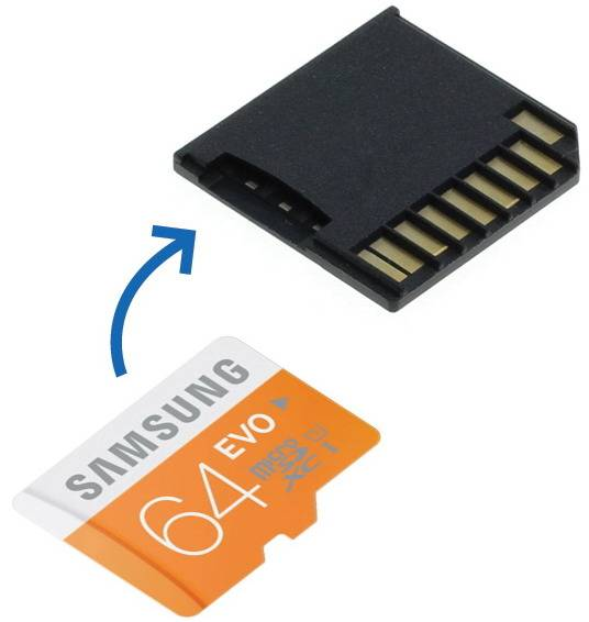 """MicroSD Adapter + 64GB Samsung geheugen voor MacBook Pro 13"""" en 15"""" (Retina)"""