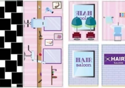 iWallz decoratiestickers Hair Saloon 6 delig