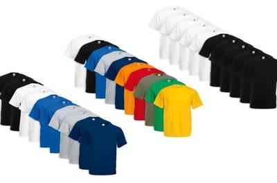 Set van 10 Fruit of The Loom t-shirts