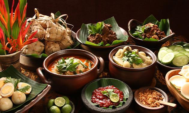 Thuisbezorgd of afhalen: Indische rijsttafel bij Maxima's