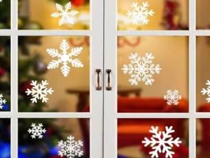 Tot 6 sets van 27 sneeuwvlok stickers, inclusief verzending