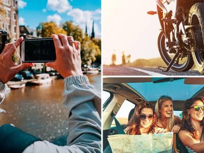 Foto-puzzeltocht voor auto of motor