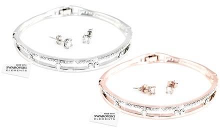 1 of 2x sieradenset gemaakt met Swarovski®-kristallen
