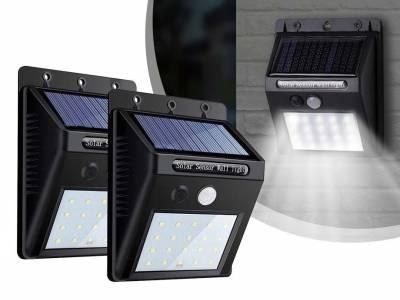 Solar 20 LED Wandlamp Met Sensor - Vandaag 1+1 GRATIS! ...