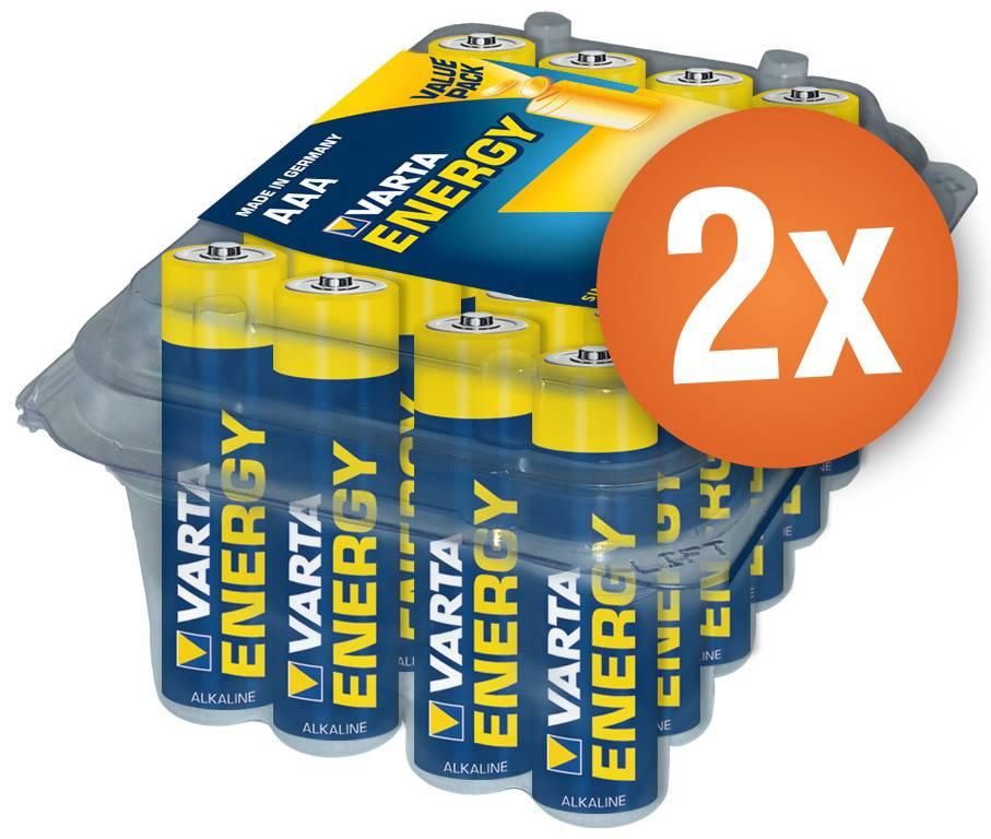 Voordeelpak met 48AAA Varta High Energy alkaline batterijen
