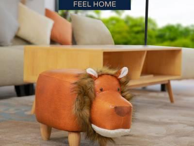Feel Furniture - Kinder dierenstoel - Leeuw