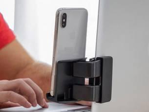 Telefoonhouder voor aan een beeldscherm, inclusief verzending