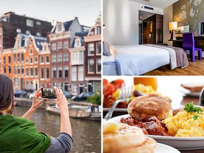 Overnachting + ontbijt + evt. parkeren voor 2 in Amsterdam