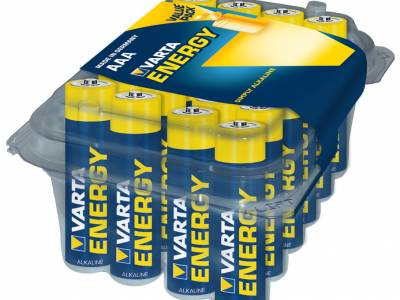 Box met 24AAA Varta High Energy alkaline batterijen