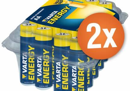 Voordeelpak met 48AA Varta High Energy alkaline batterijen