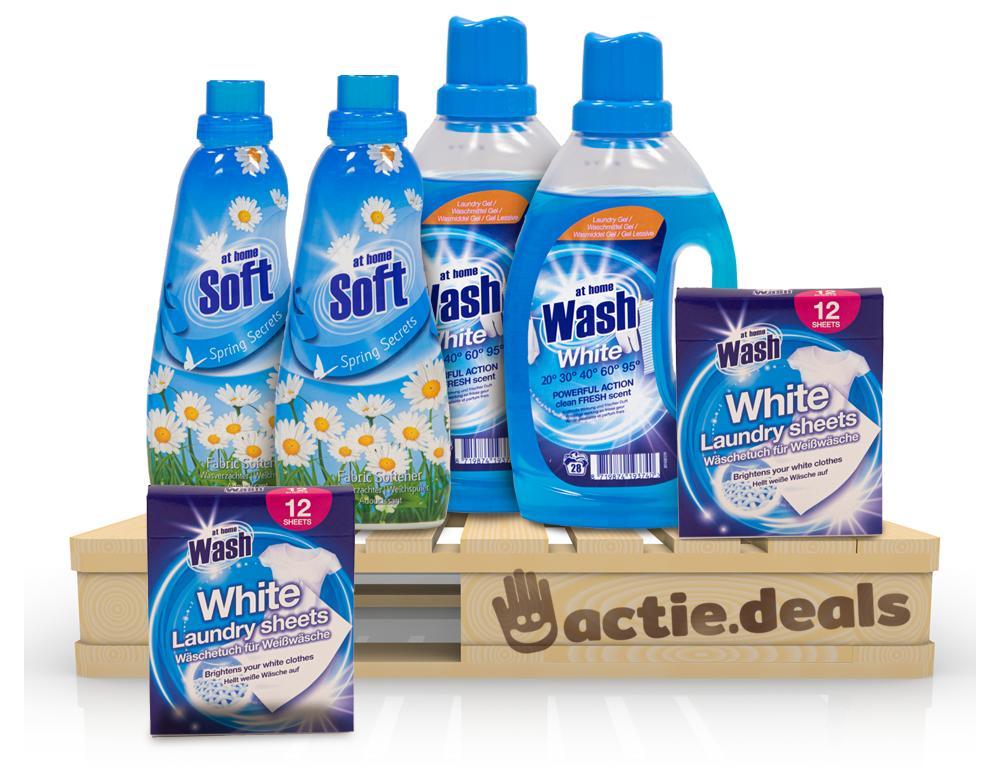 Voordeel At Home Waspakket - Wit (50 wasbeurten)