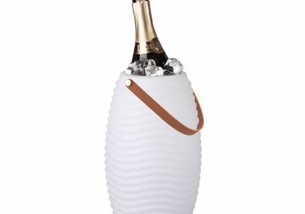 Wijnkoeler met lamp & speaker - Geribbeld