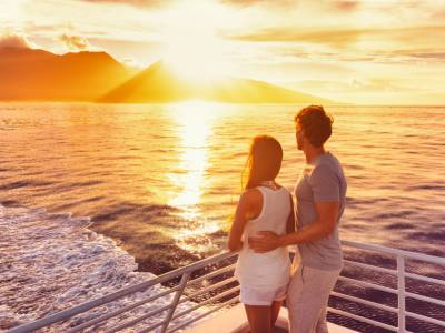 Luxe cruise op splinternieuw schip langs Spanje en Italië o.b.v. volpension