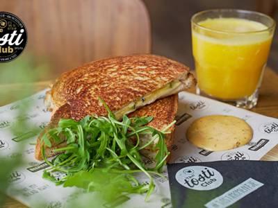 Afhalen: tosti en smoothie naar keuze